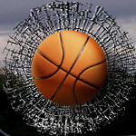 2-D sports marketing window clings for basketball