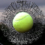 3-D sports marketing window clings for tennis