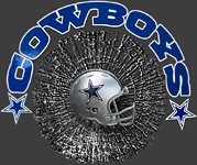 3-D sports marketing window clings for Dallas Cowboys