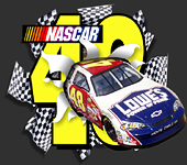 3-D Lowes NASCAR bursting from a static cling decal