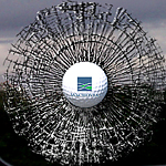 3-D sports marketing window clings for golf